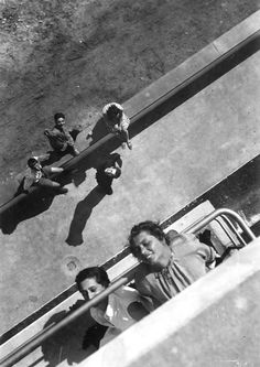 Bauhaus Dessau, On the Terrace of the Bauhaus Building, Gunta Stölzl on the right, with Anni Albers