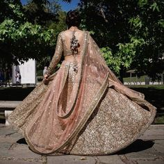 The best thing which you want about such lehengas is these are one-of-a-kind and versatile. For an immediate Barbie-look you can decide on a ruffled lehenga. Should youn't need to go the standard way, then this lehenga is most likely… Continue Reading → Indian Bridal Outfits, Indian Bridal Wear, Bride Indian, Indian Wear, India Fashion, Asian Fashion, Pakistani Dresses, Indian Dresses, Patiala Salwar