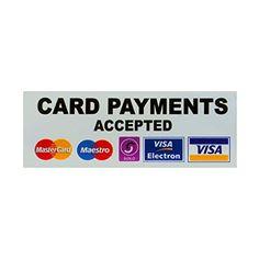 Carte des paiements acceptés Sticker Taxi: Stickers 10,2x 3,8cm (100mm x 40mm) carte de paiements acceptés 'sticker texte noir sur…