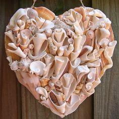 Even broken shells are beautiful.  Shellbelle's Tiki Hut: Driftshell Hearts