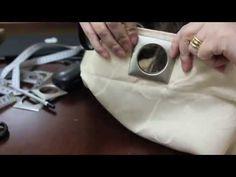 Tutorial colocação de ilhós em cortina de varão - YouTube
