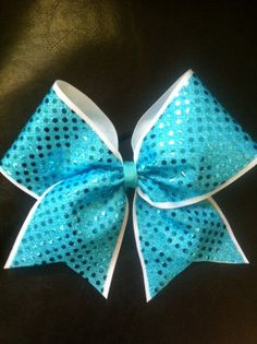 Sequin Cheer Bows by AnnieBowBannieBows on Etsy, $10.00