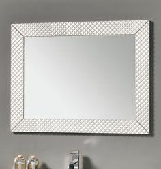 #Eban #specchio Swan | #Vetro e #legno | su #casaebagno.it | #composiozioni #mobili #bagno #arredamento #desig