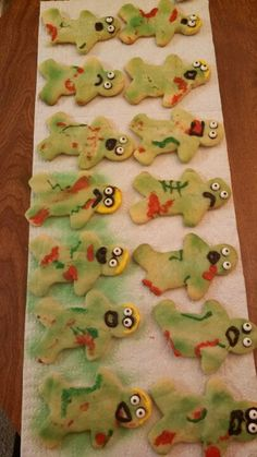 Zombie cookies I made for some coworkers who are obsessed with The Walking Dead.