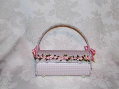 Luxury Design  Pink Gingham 3D Paper Purse Gift by apreciousmemory