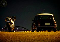 MINI IN THE DARK keeps the Two Wheeled Partnership up with this cool pair. I'd still pic the Mini though...
