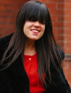 Lily Allen....love her....but love her hair here too......Maybe once my hair gets longer.