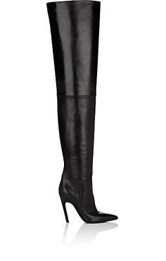 We Adore: The Broken-Heel Leather Cuissard Boots from Balenciaga at Barneys New York