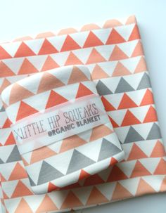 Baby Blanket, Geometric Triangles, Choose Your Color Choice, Modern Organic Baby Bedding. $44.80, via Etsy.