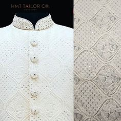 [New] The 10 Best Fashion Ideas Today (with Pictures) - A Chikankari sherwani can surely make you look like a nawab!Straight from the city of Nawabschikankari fabrics now available in vairious colors and designs! Visit our store for more details! Sherwani Groom, Mens Sherwani, Wedding Sherwani, Mens Indian Wear, Indian Men Fashion, Wedding Men, Wedding Attire, Lucknowi Suits, Indian Menswear
