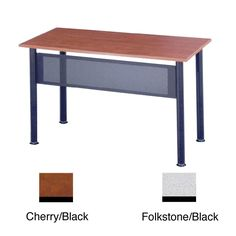 Give your office a professional update with this sturdy conference table. With a scratch-resistant top and steel-frame construction, this conference table will serve multiple purposes and make your office run stylishly and efficiently.