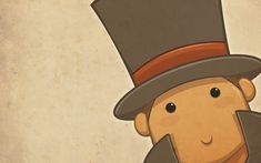 Chibi Layton is Watching by zillabean on DeviantArt