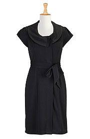 Sash waist ponte knit dress
