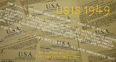 Image for USIS 1949 font