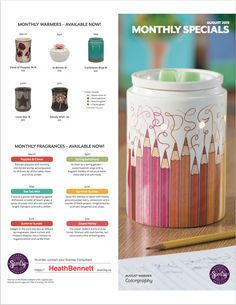 August Scentsy of the Month Warmer