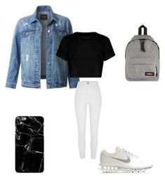 """""""Outfit Londen vliegen"""" by lifestyle-outfits on Polyvore featuring mode, LE3NO, Eastpak, NIKE, River Island en Harper & Blake"""
