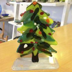 Fused glass - christmas tree