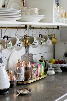 Awesome Under Cabinet Cup Rack