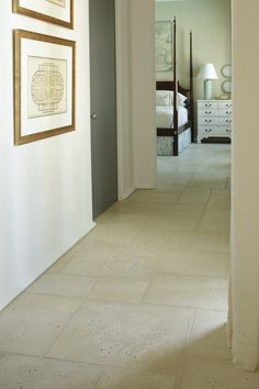Interior application of Peacock Pavers in CHAMPAGNE