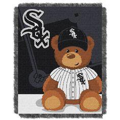 Chicago White Sox MLB Triple Woven Jacquard Throw (Field Baby Series) (36x48)