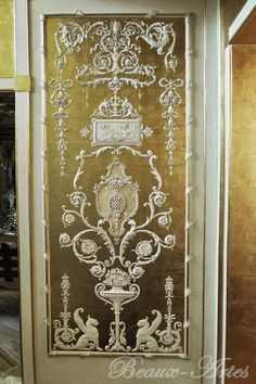 beaux-artes-ornamentation-arabesque-panel - -my fascination with doors and panels remains . . .