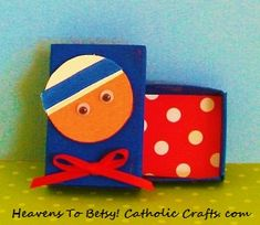 A quick-to-make craft to celebrate Mother Teresa's canonization. Make a pocket rosary-holder from a tiny matchbox. HEAVENS TO BETSY! CATHOLIC CRAFTS.COM