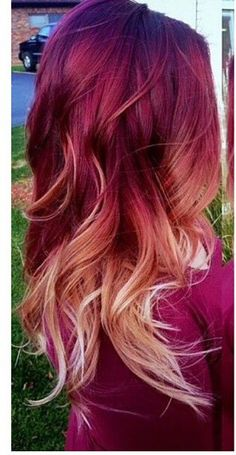 87 unique ombre hair color ideas to rock in 2018 - Hairstyles Trends Pretty Hair Color, Hair Color Purple, Hair Color And Cut, Hair Dye Colors, Sunset Hair, Red Ombre Hair, Fall Hair, Gorgeous Hair, Dyed Hair