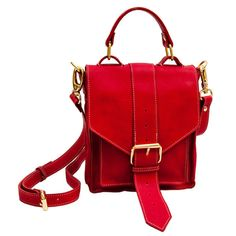 Everything i could evr dream of and more -->Leather Red Satchel by Betty and Betts