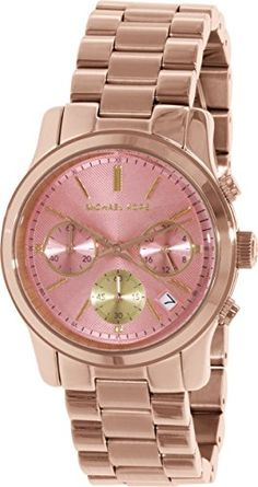 Michael Kors Watches Runway Chronograph Stainless Steel Watch (Gold/Pink) Michael  Kors http