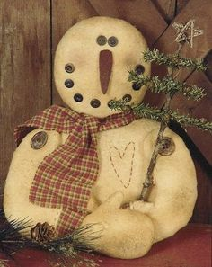 snowman | Primitive Christmas