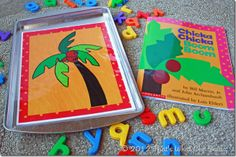Chicka Chicka Boom Boom Printable for cookie sheet - to use with magnetic letters