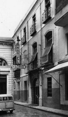 Hotel Madrid junto casino de Murcia. Hoy es la calle radio murcia. vía Museo Huertano de Murcia