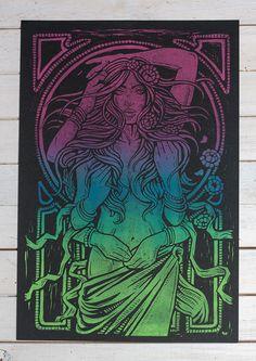 Dame Terres Electrique - Psychedelic Blend Block Print on Behance