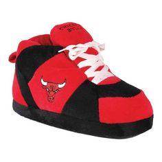 d91e171f7 Happy Feet NBA Sneaker Boot Slipper - Chicago Bulls Slippers