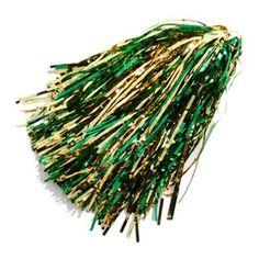Green-Gold Metallic Rooter Pom < Go Pack Go! #UltimateTailgate #Fanatics