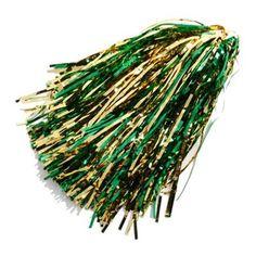 Green-Gold Metallic Rooter Pom $3.95