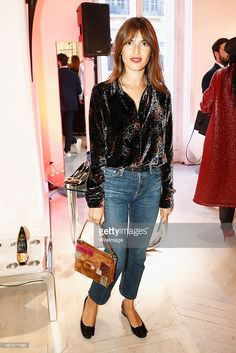 Jeanne Damas attends the Roger Vivier Autumn - Winter 2015/2016 Collection Celebration on October 6, 2015 in Paris, France.