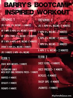 barry's bootcamp inspired workout- My Own Balance