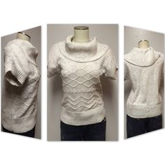 Cream cowl neck short sleeve sweater - Cato Speckled cream cowl neck short sleeve sweater. Polyester, acrylic, viscose, and wool blend. Cato Sweaters Cowl & Turtlenecks