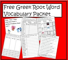 Free greek root word spelling and vocabulary packet to help elementary students analyze, understand and utilize words with the greek roots p. Another way to combine spelling and vocabulary using root words for or grade. Vocabulary Strategies, Vocabulary Words, Vocabulary Games, Spanish Vocabulary, Word Study, Word Work, Latin Root Words, Spelling Words, Spelling Ideas
