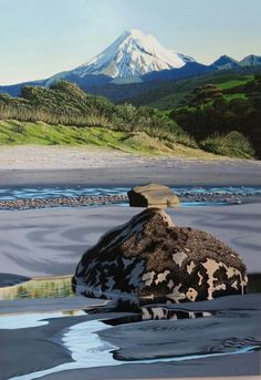 Corbett Park, Oakura, Taranaki, New Zealand Beautiful Places, Beautiful Pictures, New Zealand Landscape, New Zealand Art, Nz Art, Contemporary Artwork, Landscape Paintings, Landscapes, Texture Art