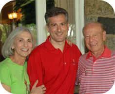 Professor Emeritus Anthony Pustorino, pictured with his wife, Connie, and son, Richard Pustorino '86, '96, was honored at the Lubin Golf Classic on May 29, 2012.