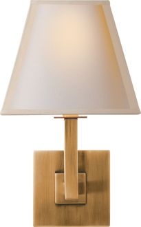 ARCHITECTURAL WALL SCONCE - at $200 a sconce that's definitely out of our price range, but there is an Ikea sconce that looks similar that we could hack