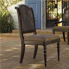 Tommy Bahama Home Kingstown Isla Verde Side Chair with Open Cane Back - Baer's Furniture - Dining Side Chair Boca Raton, Naples, Sarasota, Ft. Myers, Miami, Ft. Lauderdale, Palm Beach, Melbourne, Orlando, Florida