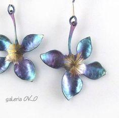 0902 Ornament-pendientes con vidrio-perlas bronce-look
