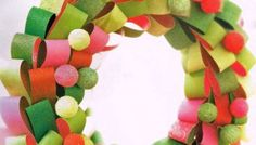How to make a Paper Loop Christmas Wreath (and we have a winner!)