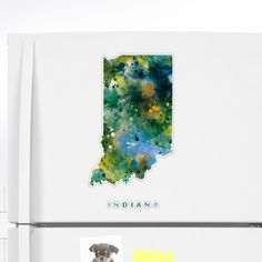Indiana #indiana #unitedstates #usa #state #map #art #print #sticker #stationery #gift #ideas #polis #abstract #watercolor #colorful #travel #city #america #modern #minimalist