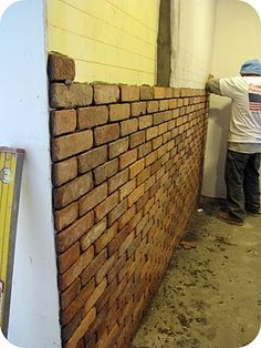 Kitchen Makeover: How To Lay a Brick Wall | Dream Book Design: Kitchen Makeover: How To Lay a Brick Wall