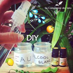 DIY - Fabriquez votre propre désodorisant toilettes ! De l'alcool blanc, de l'eau et deux huiles essentielles... Le tour est joué : un petit pschiit et ça sent l'été !