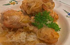 Ellen's Kitchen & Garden - Chicken Fricassee a warm, rib-sticking meal for cool weather
